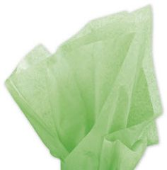 Solid Tissue Paper Apple Green 20 x 30 • 480 sheets of solid color tissue paper per ream • Machine glaze finish • Contains on average 60% post-industrial and 10% post-consumer recycled content • Recyclable • Made in the USA