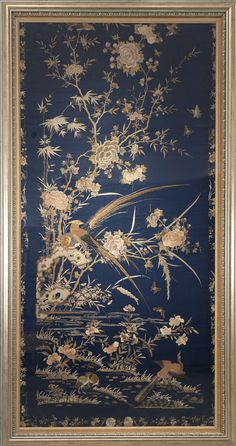 Buy online, view images and see past prices for Century Chinese Blue Embroidery with Birds and Floral Motif. Invaluable is the world's largest marketplace for art, antiques, and collectibles.