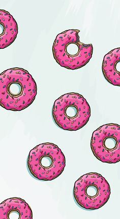 Donut background pink