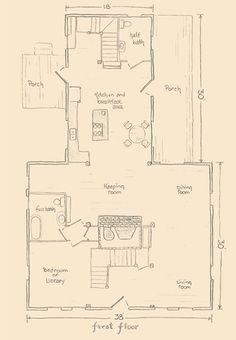 Center chimney cape house plans - House interior