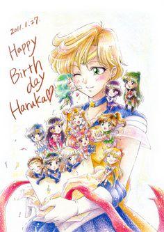 Sailor Uranus and Senshi 2011年賀状のおまけ by tomo on pixiv
