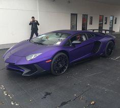 Lamborghini Aventador a Super Veloce Coupe painted in Viola Mel Photo taken by: @aaron_racearmadatx on Instagram