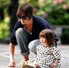 Katie Holmes with daughter Suri Cruise.