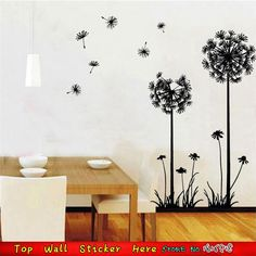 Charm Dandelion Flying Wall Sticker Waterproof Mural Art DIY Home Living Room Bedroom Wall Decoration Decals Vinyl Wall Stickers
