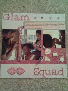 Wedding scrapbook, bride,  glam squad,  getting ready