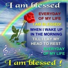 I am blessed! thank you jesus godly quotes, bible quotes, Blessed Quotes, I Am Blessed, Life Quotes Love, Quotes About God, Sunday Quotes, Good Morning Quotes, Morning Thoughts, The Words, Bible Quotes
