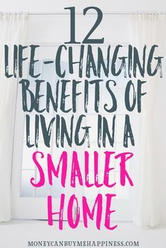Living in a smaller home can make your life better, by giving you more disposable income and more time for enjoying your family. If you've ever considered downsizing to a smaller home, you'll want to check out this post.