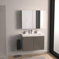 Meuble salle de bain double vasque rouge laqué brillant 120 cm