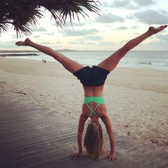 LIVE ACTIVE! Sometimes I try to do cartwheels and hand stands, and because I can NEVER perfect them, it's quite a work out!