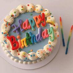 Pretty Birthday Cakes, Pretty Cakes, Beautiful Cakes, Happy Birthday, Fancy Cakes, Mini Cakes, Cupcake Cakes, Pastel Cakes, Frog Cakes