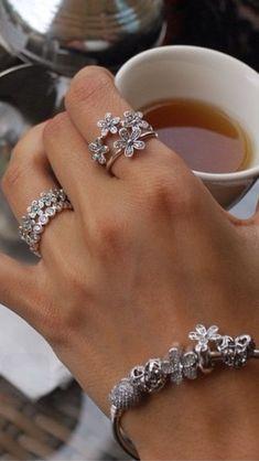 Moissanite engagement ring set Vintage Art deco engagement ring Women White gold Unique Alternative Diamond Wedding Bridal Anniversary gift – Fine Jewelry Ideas - Famous Last Words Pandora Bracelet Charms, Pandora Jewelry, Charm Jewelry, Fine Jewelry, Pandora Beads, Charm Bracelets, Jewelry Making, Bijoux Design, Schmuck Design