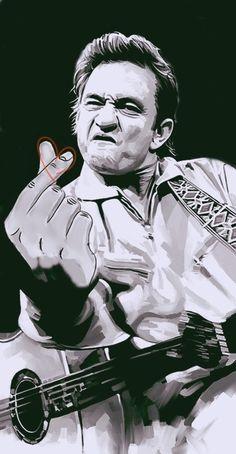 finger sign #FingerHeart little heart johnny cash