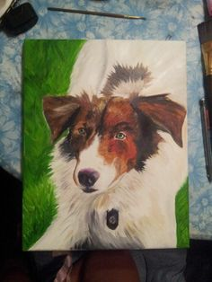 Dog done with oil paints