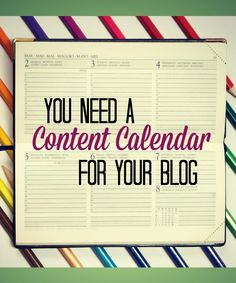 Learn how to create a great content calendar for your blog!