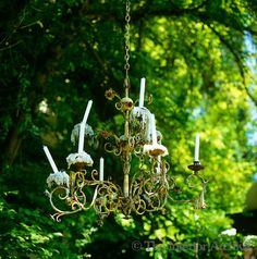 rustic wrought-iron chandelier, Italy