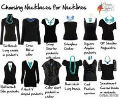 How to wear a necklace based on the neckline of your top