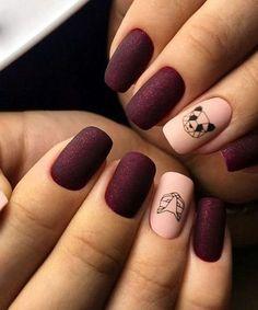 Prettiest Geometric Panda Nail Art Designs to Look Unique and Trendy - long nails Diy Nails, Cute Nails, Pretty Nails, Glitter Nails, Best Gel Nail Polish, Nail Polish Colors, Panda Nail Art, Cute Nail Colors, Nagel Hacks