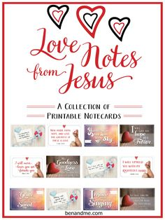 Marcy over at Ben and Me is offering these FREE printable scripture note cards to encourage you, or to give you the opportunity to encourage someone else.  Tw