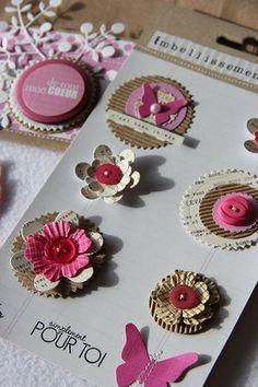 Handmade embellishments using die cuts