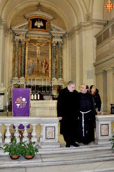 El Cardenal i el rector de la basílica