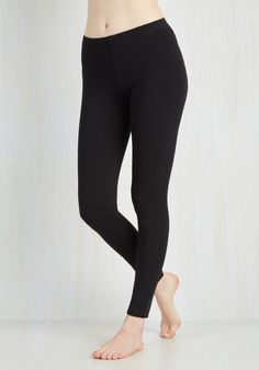 Simple and Sleek Leggings in Black. No wardrobe is complete without a bevy of versatile basics - thats why these black leggings always make their way into your daily ensembles! #black #modcloth