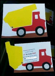 Boy birthday dump truck // okay so these might… Construction Party invitation. Boy birthday dump truck // okay so these [. Construction Party Invitations, Construction Theme, Construction Birthday Parties, 2nd Birthday Parties, Boy Birthday, Birthday Cards, Birthday Images, Paw Patrol Birthday Card, Invitation Birthday