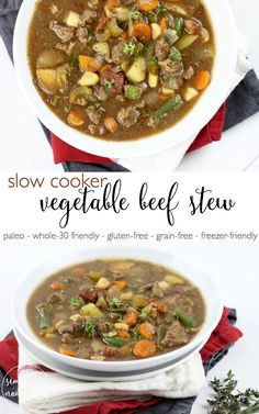 Warm-up with this hearty Slow Cooker Beef Stew | paleo, whole 30, gluten-free, grain-free, dairy -free, freezer-friendly | http://simplynourishedrecipes.com/slow-cooker-beef-stew/