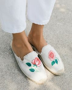 Vogue 125 Embroidered Mule                      – Soludos Embroidery Shop, Beautiful Shoes, Espadrilles, Vogue, Slip On, Sandals, Sneakers, How To Wear, Shopping