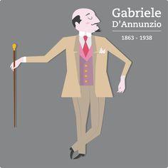 Gabriele D'Annunzio Illustration