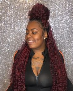 Faux Locs Hairstyles, Braids Hairstyles Pictures, Braided Hairstyles For Black Women, African Braids Hairstyles, Protective Hairstyles, Protective Styles, Wedding Hairstyles, Braids With Curls, Twist Braids