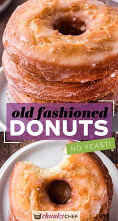 Golden brown on the outside and soft and fluffy on the inside, these Old Fashioned Sour Cream Donuts are made with simple ingredients and NO yeast!  Perfectly fried with nooks and crannies to hold the sweet vanilla glaze! #donuts #cakedonuts #oldfashioned #sourcream #baking #breakfast #pastry Best Breakfast Recipes, Savory Breakfast, Sweet Breakfast, Brunch Recipes, Breakfast Time, Recipes Dinner, Breakfast Ideas, Easy No Bake Desserts, Fun Desserts
