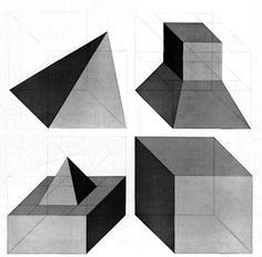 SOL LEWITT, FORMS DERIVED FROM A CUBE (SET OF 24), 1982