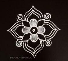 Easy And Simple Rangoli Design Rangoli Side Designs, Rangoli Designs Latest, Free Hand Rangoli Design, Small Rangoli Design, Rangoli Designs With Dots, Mehndi Designs, Simple Art Designs, Simple Rangoli Designs Images, Beautiful Rangoli Designs