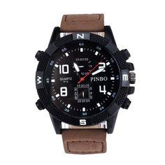 Superior Luxury Men's Canvas strap Large Dial Military Sport Quartz Wrist Watch