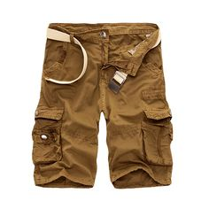 Fifth short men's cotton summer new casual fashion  frock multi-pocket camouflage shorts Free shipping 29-40 without belt