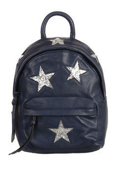 Koženkový batůžek se třpytivými hvězdami