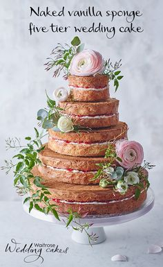 This five tier vanilla wedding cake from Waitrose can be decorated in so many ways. Created for the stylist in us all!