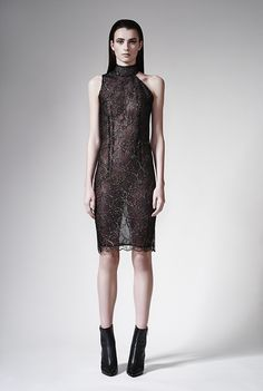 BELLE SAUVAGE FALL WINTER 2015 WEDNESDAY. I'M IN LOVE.  #collection #WednesdayAddams #addamsfamily #healthgoth #dark #style #post-punk #punk #TheCure #SiouxsieSioux  #Bauhaus #fashion #londonfashionweek #lfw #dress #womenswear #avantgarde #bellesauvage #leopardbybellesauvage #chinasnexttopmodel #model #runway #goth #silk #black #coat #winter #fallwinter2015 #printdesigner #christianneuman #chrisneuman #gown #leather #fur