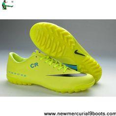 Buy Cheap Limited Edition Yellow Black Blue Nike Mercurial Vapor IX CR SE TF Football Futsal Soccer Shoes On Sale