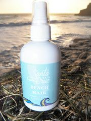 "Santa Cruz Skin ""Beach Hair"" is for that awesome look after a great day at the beach. Create the beach look at home with this fun & salty spray."