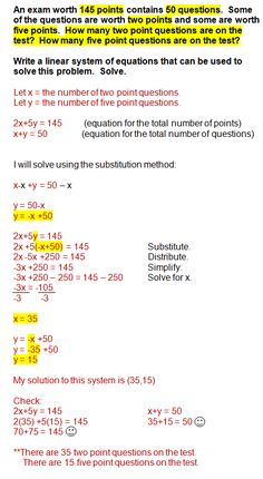 Solving systems of inequalities word problems
