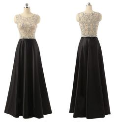 Custom Made Charming Beading Prom Dress,Sleeveless Evening Dress,Floor Length Party Dress