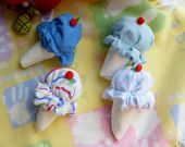 Items similar to Disposable Diaper...Washcloth Ice Cream Cone.. Bundle of 5....Baby Shower Favors...Diaper Cake on Etsy