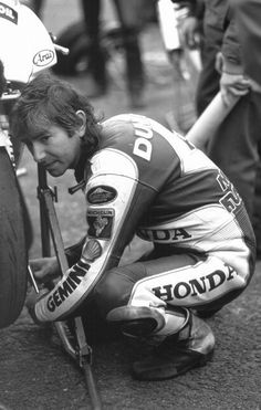 Honda works racer 1990 Joey Dunlop Isle of Man TT.