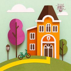 Lá is a story made of 31 paperart illustrations.