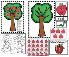 Apple activities: LOTS of apple games: Memory Match, I Spy, Speed, Kaboom, Where's Wiggles, I Have; Who Has? and more...