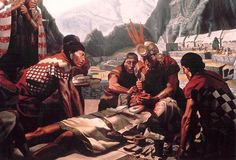 Alton S. Tobey historical mural of Inca Trephinations at the Smithsonian Institution