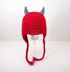Devil Earflap Hat, please send size