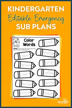 Emergency Substitute Plans that will have your back sick day after sick day!🤧 Behavior Management System, Emergency Sub Plans, Class List, Classroom Routines, Guided Practice, Content Area, Vocabulary Activities, Breath In Breath Out, Lesson Plans
