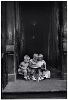 """Kids"", New York, 1950. By Elliott Erwitt."